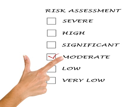 Risk assessment checkboxes photo