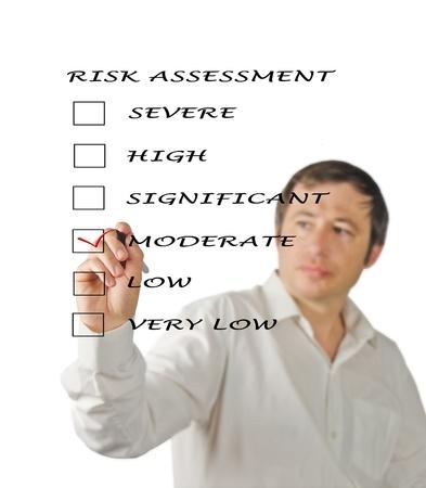 medium close up: Evaluation of risk level