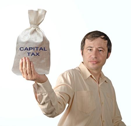 Bag with capital tax Stock Photo - 12507154