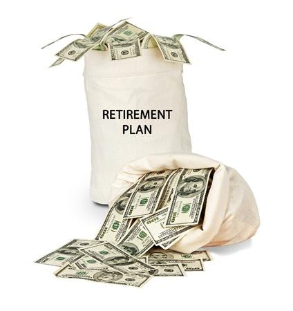 Bag with retirement plan photo