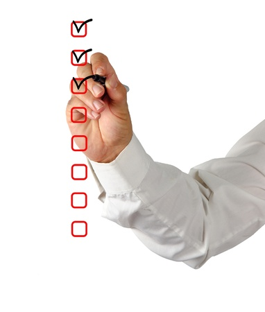 marking up: Checkboxes Stock Photo