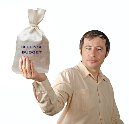 Bag with defense budget Stock Photo - 12507159