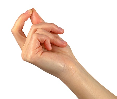 Bautiful hand on white background Stock Photo - 12505106