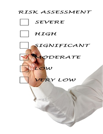 Evaluation of risk level Stock Photo - 12505151