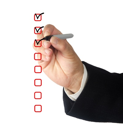 Checkboxes Stock Photo
