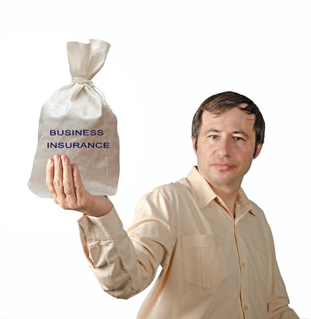 Bag with business insurance Stock Photo - 12507163