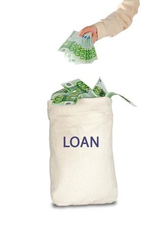 Bag with loan photo