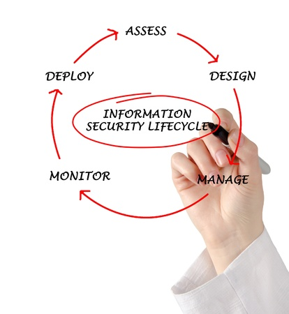 Diagram of information security lifecycle photo