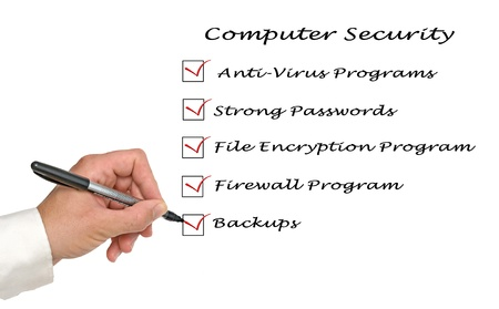 Checklist for computer security Stock Photo - 12505232