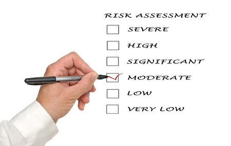 Evaluation of risk level Stock Photo - 12505239