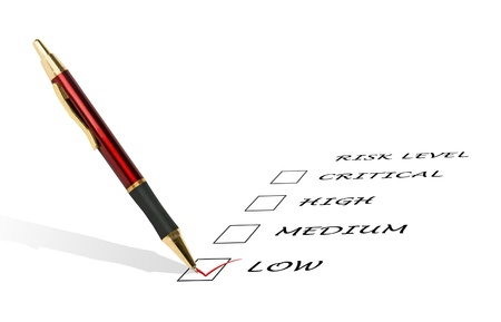 Checklist for risk level Stock Photo - 12505251