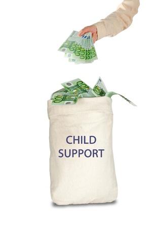 Borsa con mantenimento dei figli