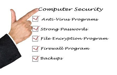 Checklist for computer security Stock Photo - 12505328