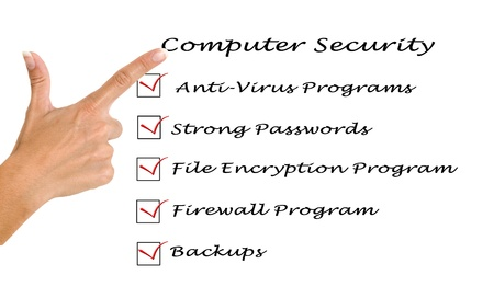 Checklist for computer security Stock Photo - 12505322