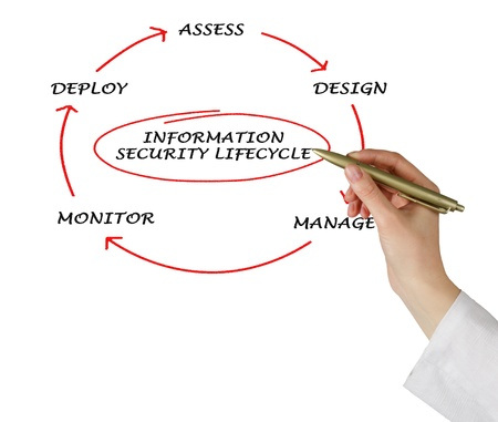 Diagram of information security lifecycle Stock Photo - 12505332