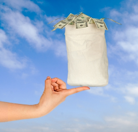 Bag with money Stock Photo - 12657708