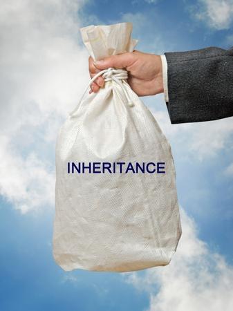 tranfer: Bag with inheritance Stock Photo