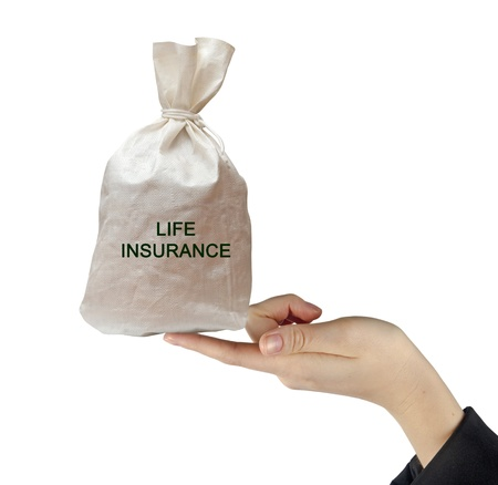 Bag with life insurance photo