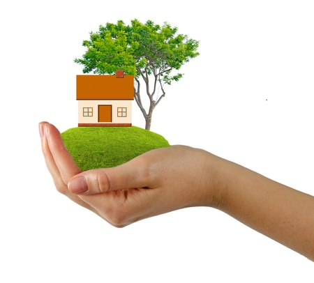 Gift of house Stock Photo - 12869868
