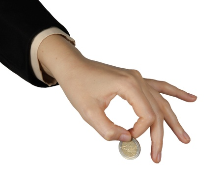 hand with coins photo