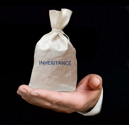 the inheritance: Bag with inheritance Stock Photo