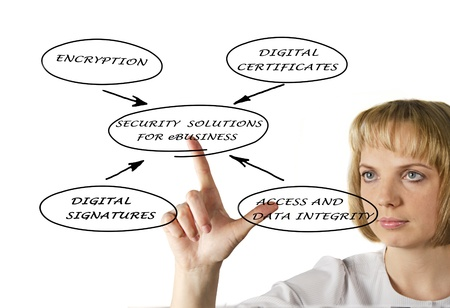 Diagram of security solutions for eBusiness Stock Photo - 12928500
