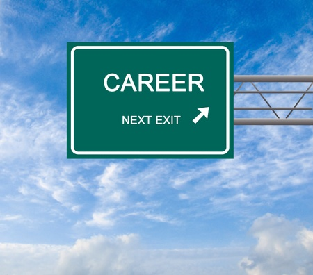 Road sign to career Stock Photo - 12992215