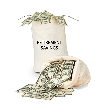 Bag with retirement savings photo