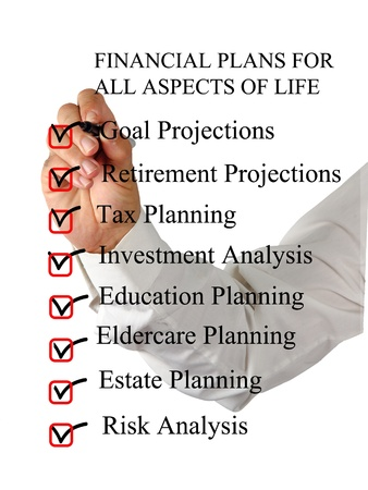 Checklist for financial plans Stock Photo - 13054148