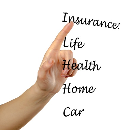 Insurance list Stock Photo - 13168441