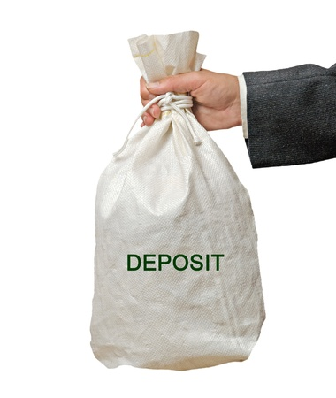 Bag with deposit photo