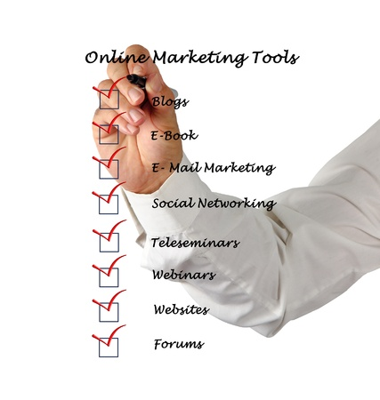 Online marketing tools Stock Photo - 13168499