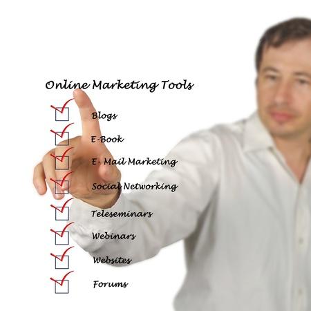 Online marketing tools Stock Photo - 13254086