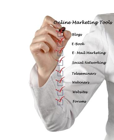 Online marketing tools Stock Photo - 13167400