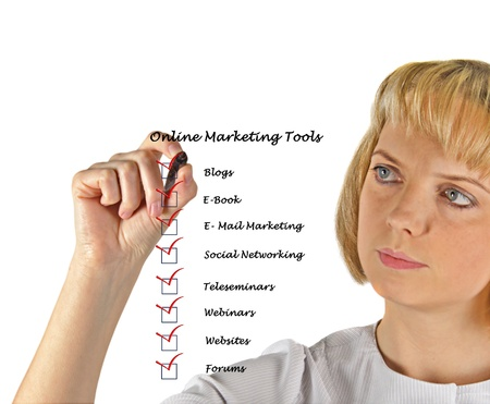 Online marketing tools Stock Photo - 13254050