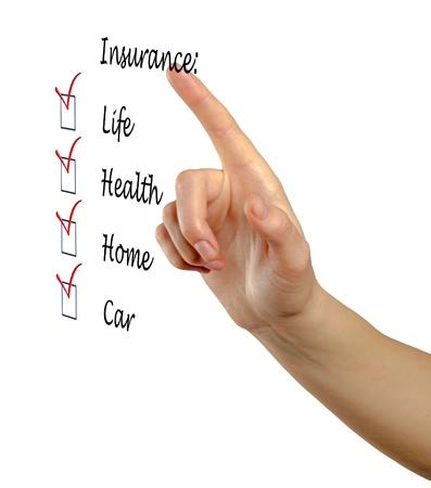 Insurance list Stock Photo - 13168650
