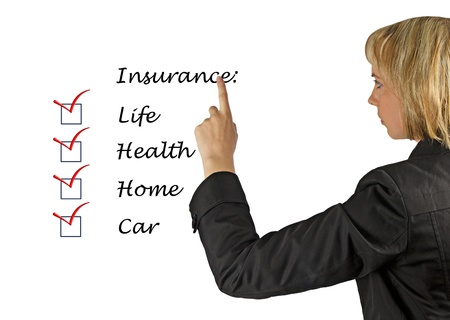 Insurance list Stock Photo - 13254059
