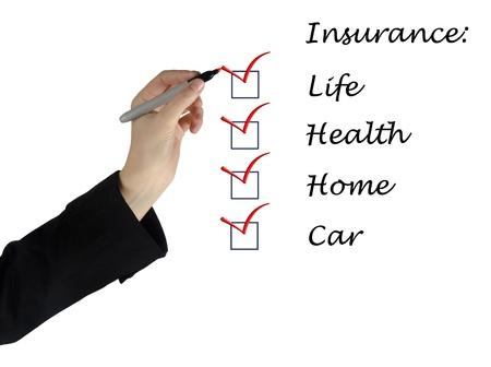 Insurance list Stock Photo - 13168645