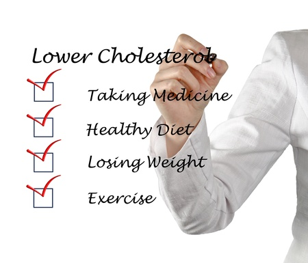 List to lower cholesterol Stock Photo - 13414227