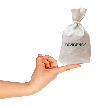 payer: Bag with dividends Stock Photo