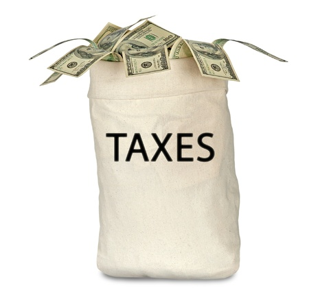 Bag with tax photo