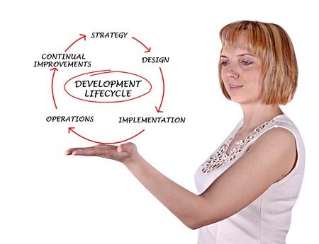 ciclo de vida: Diagrama de desarrollo del ciclo de vida