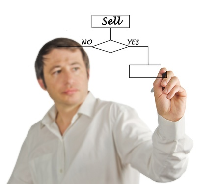 Flow diagram  Stock Photo - 13871813