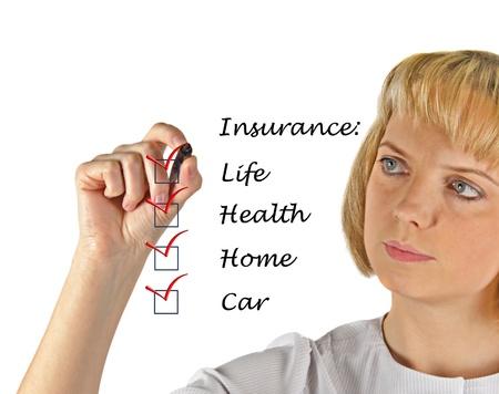 Insurance list Stock Photo - 14396586