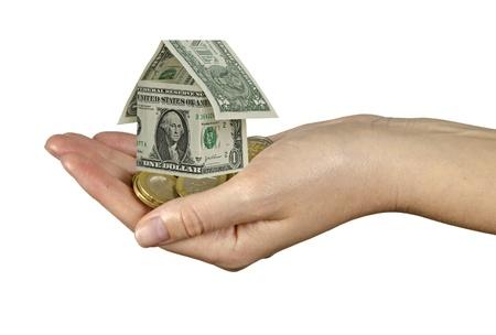 Money home in hand photo