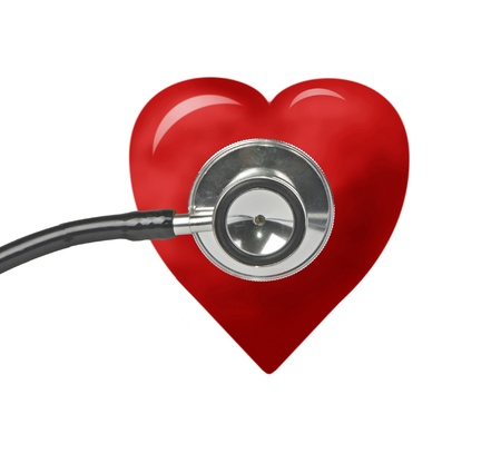 medical symbol: stethoscope and heart