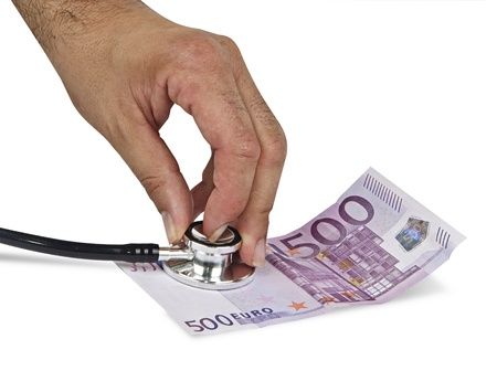 Symbol of euro crash photo