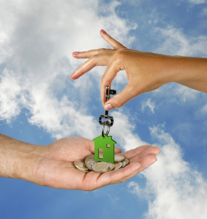 Hand with key photo