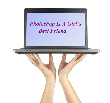Laptop is a girls best friend photo