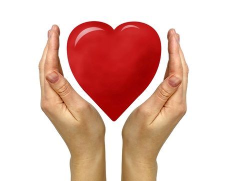 donations: Gift of heart Stock Photo